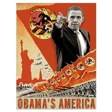 communist obama Framed Print