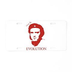 Viva Darwin Evolution! Aluminum License Plate