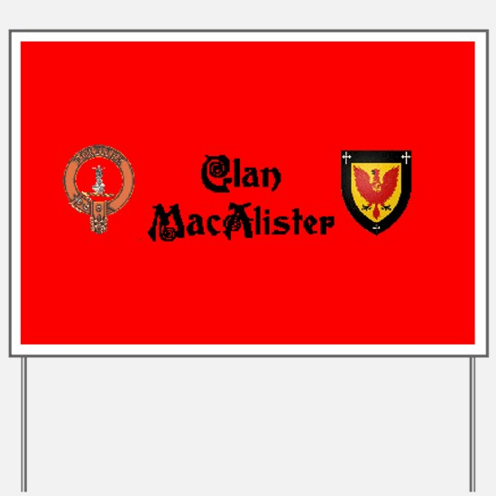 Clan MacAlister Yard Sign