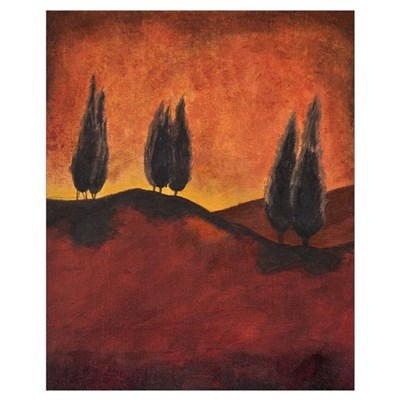 Small Print Tuscany lanscape abstract contemporary Poster