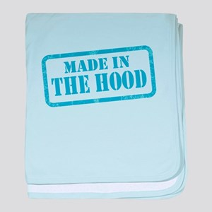 MADE IN THE HOOD baby blanket