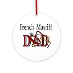 French Mastiff Ornament (Round)