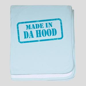 MADE IN DA HOOD baby blanket