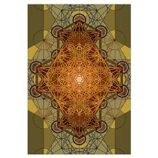 Sacred Geometry Metatron's Cube Madala Framed Print
