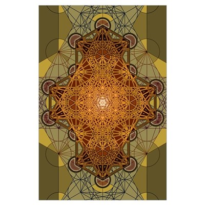 Sacred Geometry Metatron's Cube Madala Poster