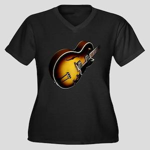 Gibson ES175 Guitar Shirt Women's Plus Size V-Neck