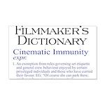Cinematic Immunity 22x14 Wall Peel