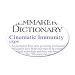 Cinematic Immunity 38.5 x 24.5 Oval Wall Peel