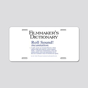 Film Dctnry: Roll Sound! Aluminum License Plate