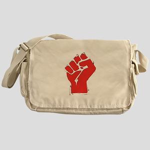Raised Fist Messenger Bag