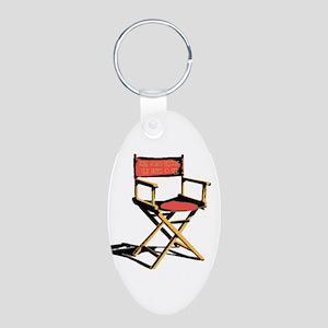 Film Brings Life Aluminum Oval Keychain