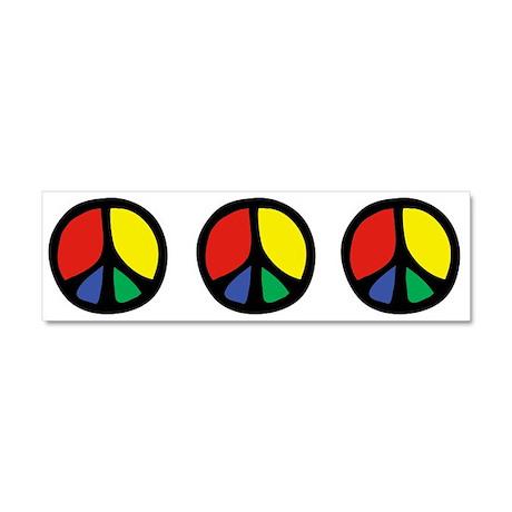 Flowing Peace Color Car Magnet 10 x 3