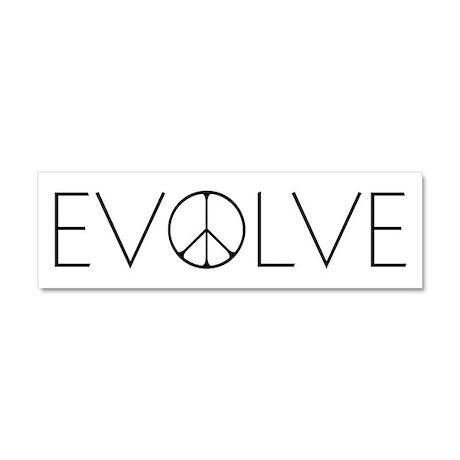 Evolve Peace Narrow Car Magnet 10 x 3