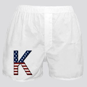 K Stars and Stripes Boxer Shorts