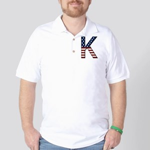 K Stars and Stripes Golf Shirt