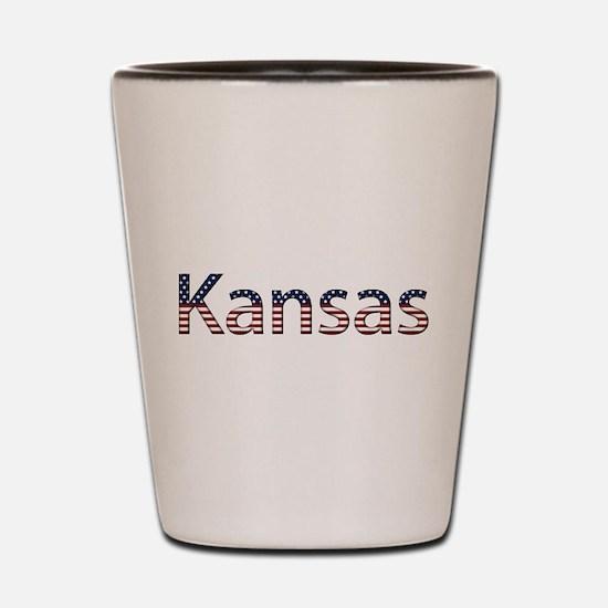 Kansas Stars and Stripes Shot Glass