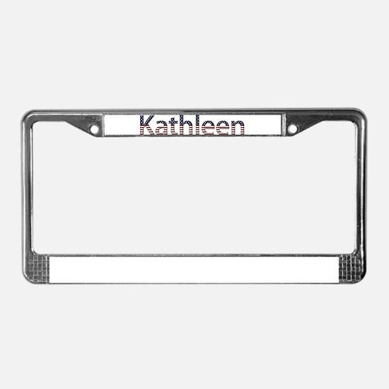 Kathleen Stars and Stripes License Plate Frame