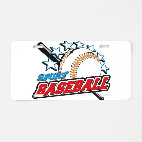 BASEBALL BALL Aluminum License Plate