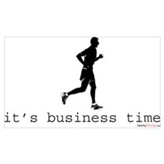 It's Business Time Running Canvas Art