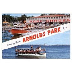 1958 Views of Arnolds Park Poster