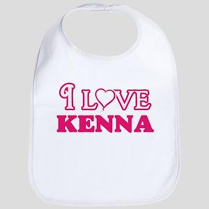 I Love Kenna Baby Bib