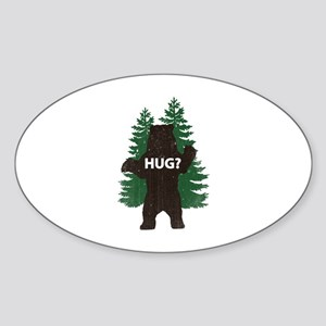 Bear hug? Sticker (Oval)