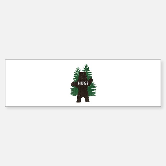 Bear hug? Sticker (Bumper)