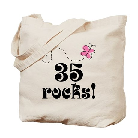 35th Birthday Butterfly Tote Bag