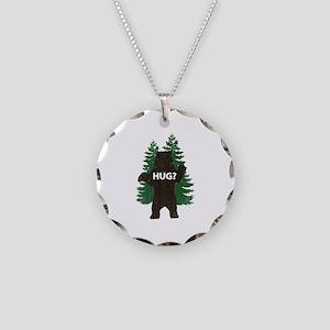 Bear hug? Necklace Circle Charm