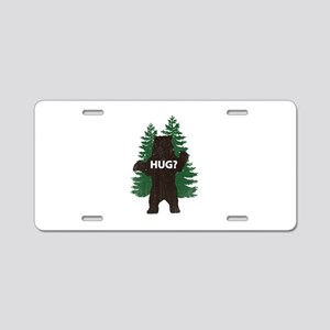 Bear hug? Aluminum License Plate