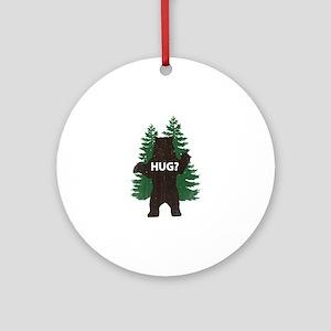 Bear hug? Ornament (Round)