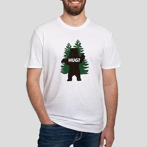 Bear hug? Fitted T-Shirt