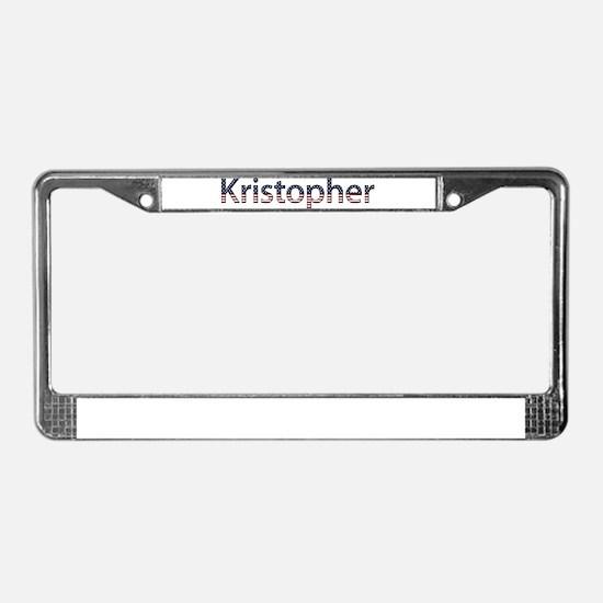 Kristopher Stars and Stripes License Plate Frame