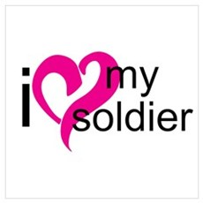 I love my soldier Canvas Art