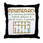 Innumeracy Throw Pillow