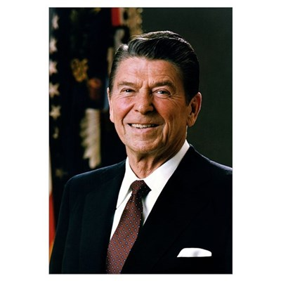 "Reagan Portrait , 14""x10&qu Canvas Art"