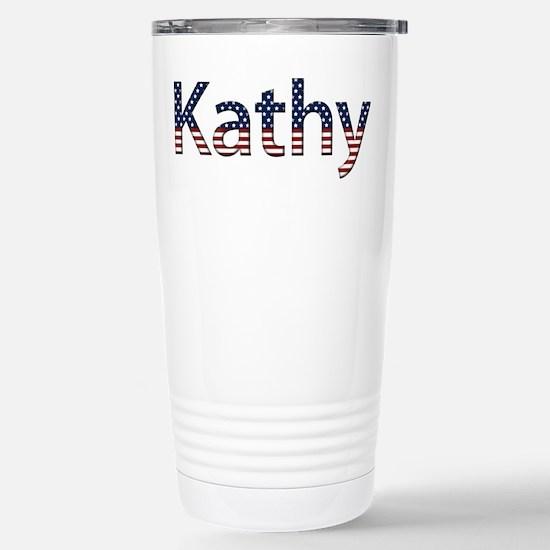 Kathy Stars and Stripes Stainless Steel Travel Mug