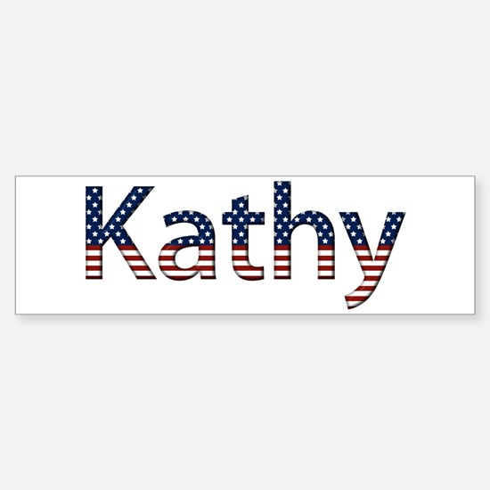 Kathy Stars and Stripes Bumper Bumper Bumper Sticker