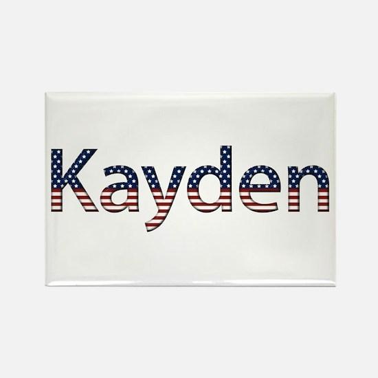 Kayden Stars and Stripes Rectangle Magnet