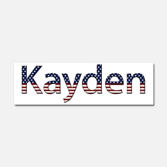 Kayden Stars and Stripes 10x3 Car Magnet