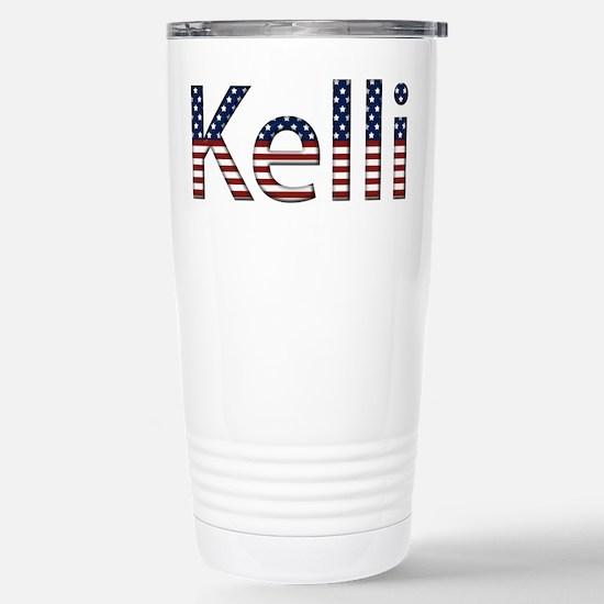 Kelli Stars and Stripes Stainless Steel Travel Mug