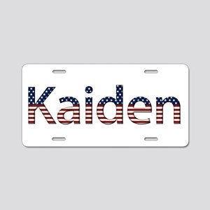 Kaiden Stars and Stripes Aluminum License Plate