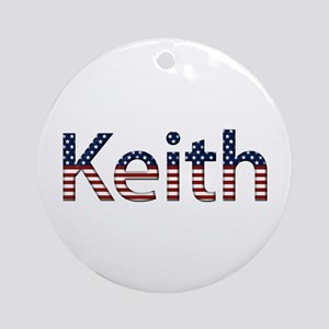 Keith Stars and Stripes Round Ornament