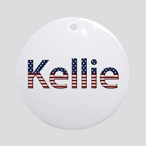 Kellie Stars and Stripes Round Ornament