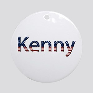 Kenny Stars and Stripes Round Ornament