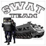 Swat team Framed Prints