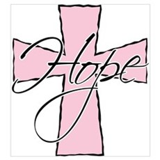 Pink Hope Cross Poster