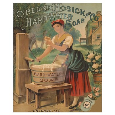 HARD WATER SOAP 16x20 Poster