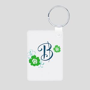 B Aluminum Photo Keychain
