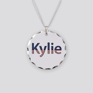 Kylie Stars and Stripes Necklace Circle Charm